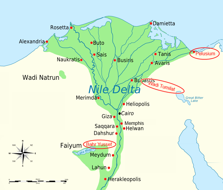 RealiaGoshenMap AlHaTorahorg - Map of egypt heliopolis